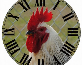 Paper Time Dial - Roman Font with Rooster