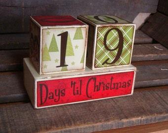 Christmas Countdown Advent blocks