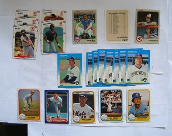 These 21 (ex or better cond) 1980's  MAJOR LEAGUE Baseball cards. Cards by FLEER See description