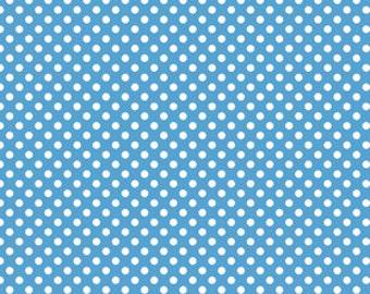Riley Blake Fabric - 1 Fat Quarter Small Dots in Medium Blue