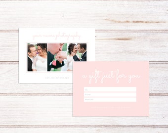 Photography Studio Gift Card, Photography Gift Certificate, Photography Gift Card Template, Gift Certificate template, Marketing Template