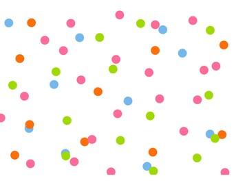Bright Polka Dots A4 Card