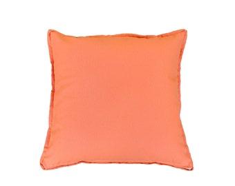 Canvas Pillow Cover orange peach