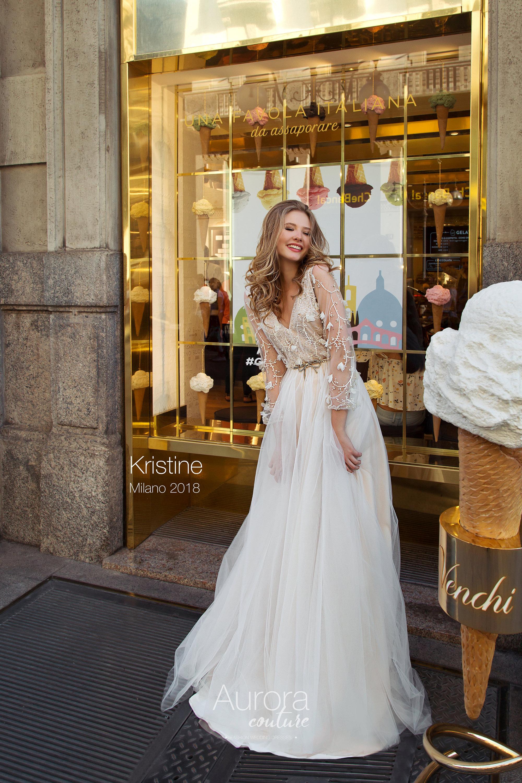 Böhmische Brautkleid Brautkleid langärmliges Brautkleid