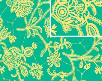"""Amy Butler PWAB068 Lark Mineral Souvenir Sewing Quilting BTHY Rowan Westminster Half Yard 18"""" Quilt Fabric Floral 100% Cotton OOP Boutique"""