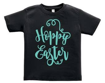Hoppy Easter Blue words Design. Easter outfit. / Boys / Girls / Infant / Toddler / Youth sizes