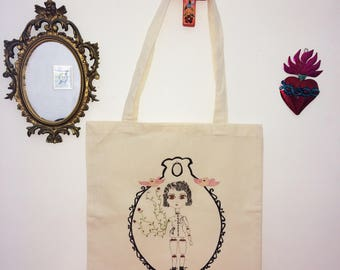 bag tote bag 100% organic limited creation drawing illustration