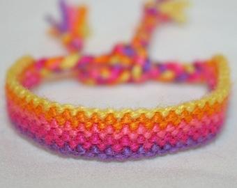 "Fuzzy Yarn ""Knit"" Friendship Bracelets"