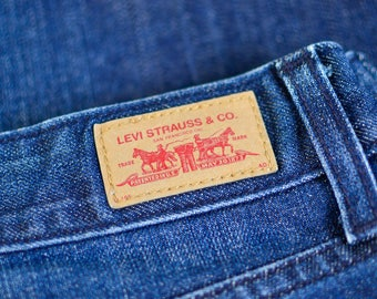 Vintage Levi 553 Jeans Bootcut Zip Fly Blue (Patch W32 L36) W 32 L 36 UK 14