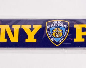 NYPD mini sized Bumper Sticker New York Police Department shield OFFICIALLY LICENSED