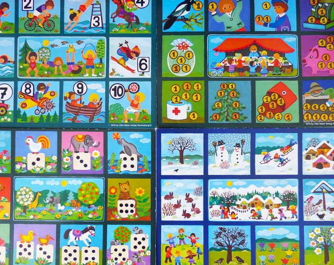 Fun Numbers Ravensburger 1982 numbers, counting, lotto
