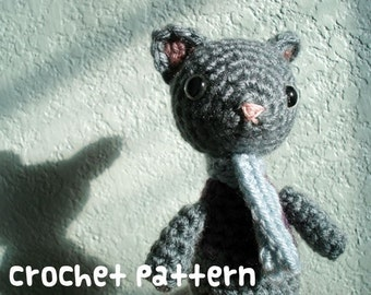 CROCHET PATTERN - Amigurumi Kitty Cat - PDF Instant Download - Cute Plushie Gift
