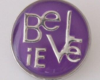 KB5068  Purple Enamel Believe Charm