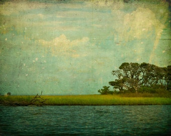 Large Photograph on Canvas - Up to 30x45- Dream of Water and Sky (Bogue Inlet, North Carolina) - Fine Art Photography
