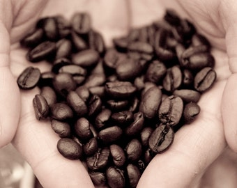 The heart of coffee 5X7 Print-Custom Listing for Dalezgrl888