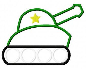 Tank Applique Embroidery Design