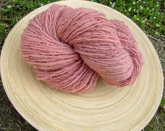 Handspun yarn - cheviot and leicester wool hand dyed - single ply - 85 grams 290 yards