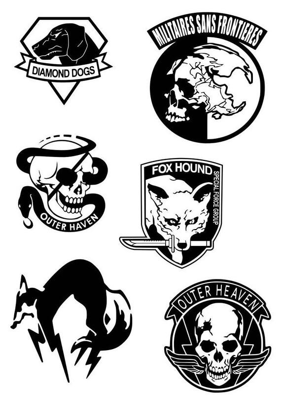 Metal Gear Faction Logos MSF FOX Foxhound Diamond Dogs