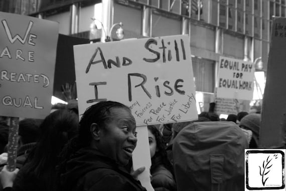 """""""And Still I Rise,"""" New York City Women's March, 2017."""