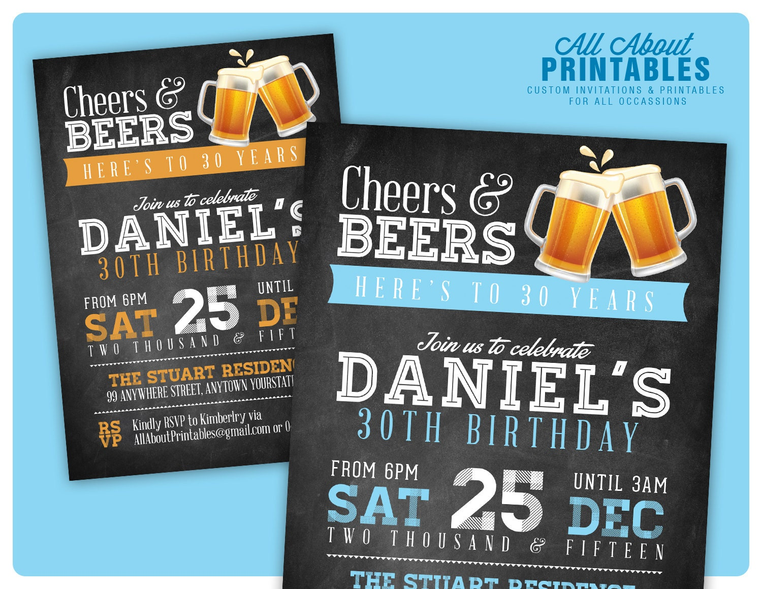 30th birthday invitation for men cheers beers invitation zoom filmwisefo Gallery