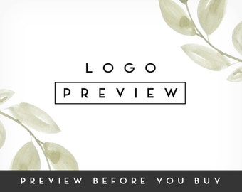 Preview a Premade Logo Design, Photography Logo, Business Logo, Branding Bundle