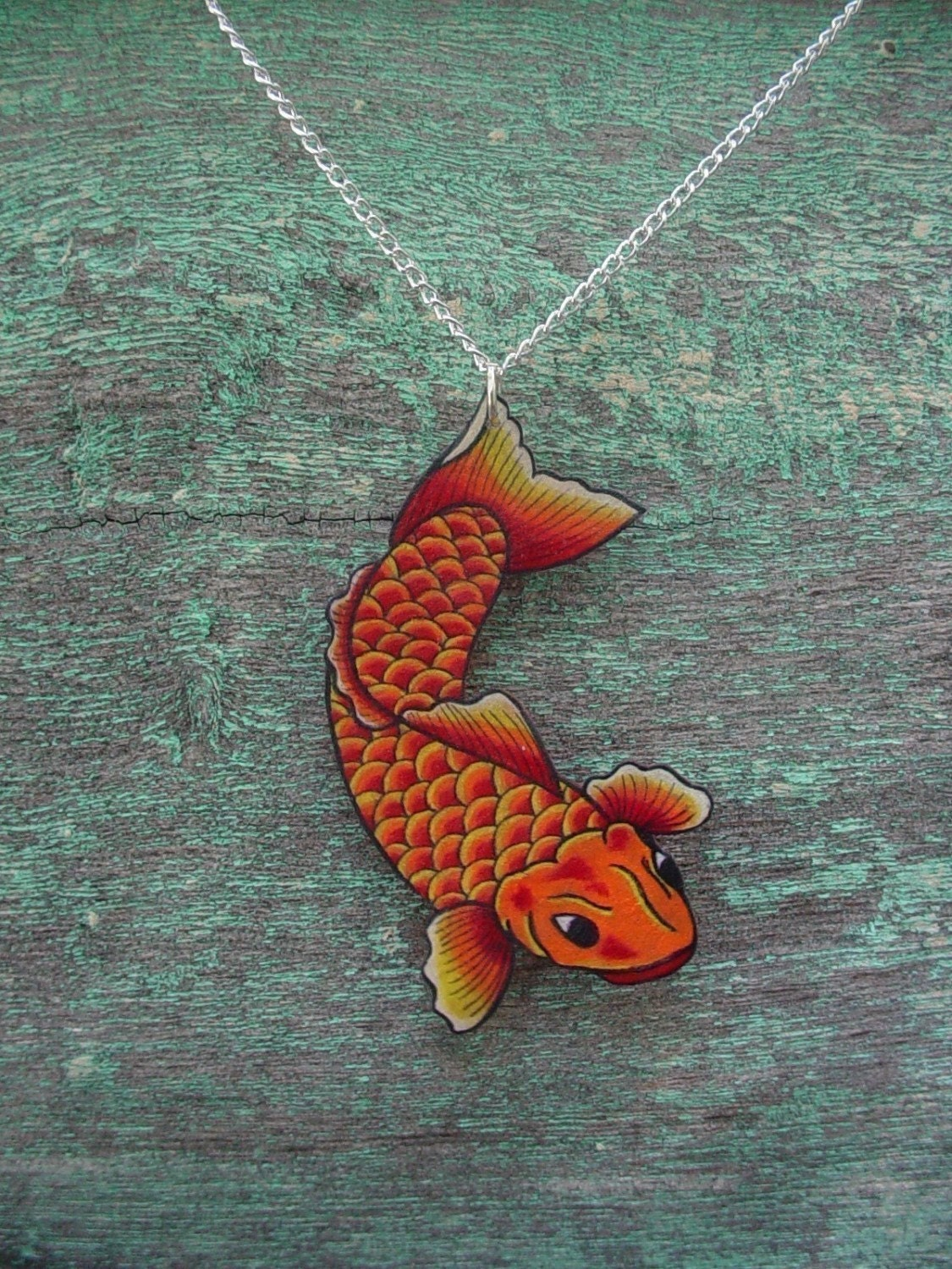 and fish cloisonne n freshwater necklace img teramasu products pearl design blue pendant koi