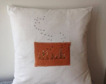 Fly away Peter .... birds flying away off the image of a Summer Cottage Garden FJ002