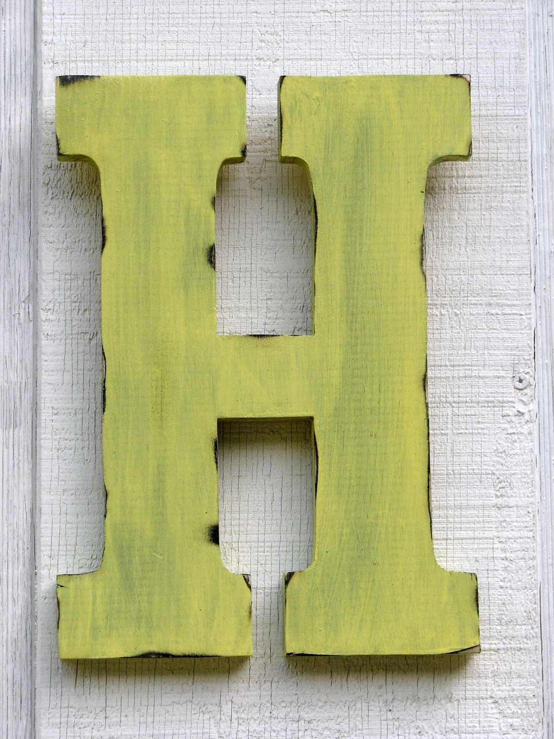 Large Wall Letters Shabby Chic Wooden Letter H Distressed