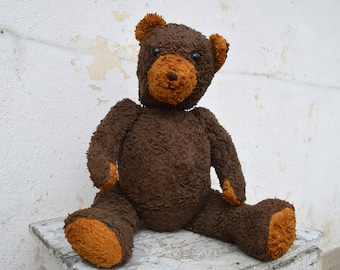 Big bear - Free shipping - Huge toy - Big Plush bear - Stuffed animal - Old plush bear - Teddy bear - Handsome teddy bear - Nursery decor