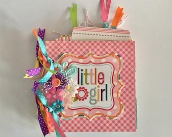 Little Girl Mini Chipboard Scrapbook Album
