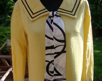 Sixties Yellow Wool Sailor Suit