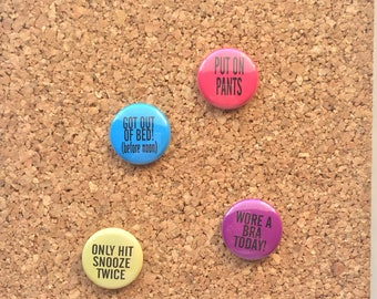 Adulting Achievement Buttons- set of 4, 1""