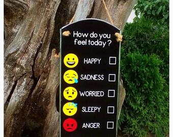 Emoji's How do I feel Interactive board -  Emotions Visual Board - Autism PECS and ABA Visual Aid - Emotions Chart - Teaching feelings board