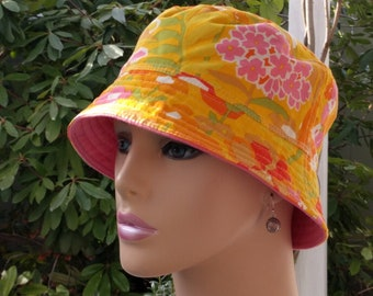 Cancer Hat Chemo Hat Bucket Hat Cancer Cap  Made in the USA SMALL MEDIUM