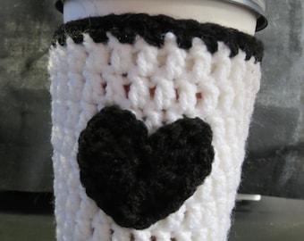 Coffee Cozy, Cup Cozy, Heart Cup Cozy, Heart Coffee Cozy, Cup Cozy Crochet, Coffee Cozy Crochet, Cozie, Heart, Cup Sleeve, Coffee Sleeve