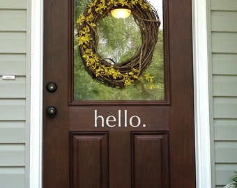 Hello Decal - Front Door Decor - Outdoor Decal