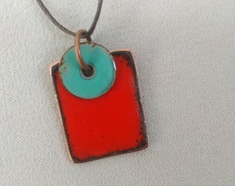 red enamel square