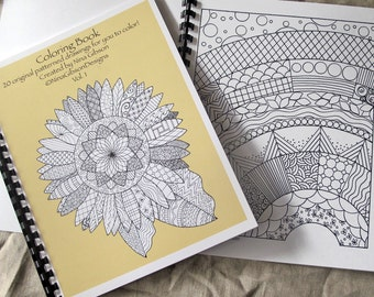 Coloring Book Adult Coloring Book Original Illustrations Art Colouring Book Coloring Page