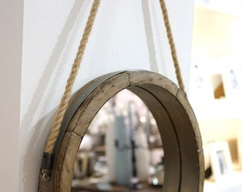 Barrel Lid Rope Mirror