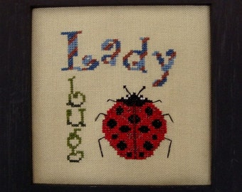 Cross Stitch Pattern Ladybug Ladybird Instant Download PDF Whimsical Counted Embroidery Cross Stitch Design X Stitch Summer DIY Home Decor