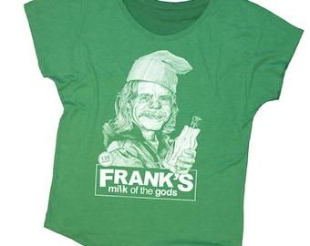 Shameless Shirt - Frank from Shameless Hand Screen Printed on a Womens Dolman - Green St. Patricks Day Shirt - Frank Gallagher Shirt