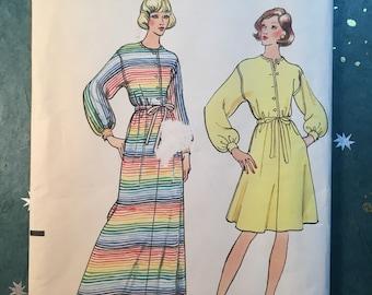 Vogue 8595 COMPLETE vintage dress pattern 1970s Size 14/36