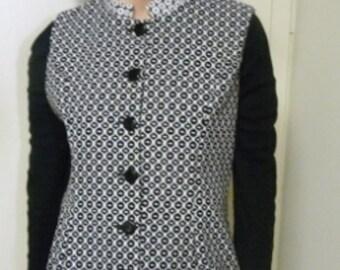 Black and white brocade vest. It is an original design