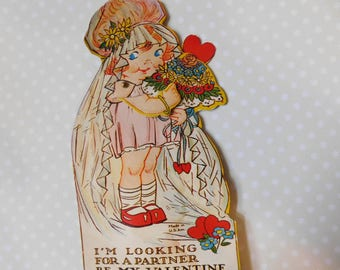 Vintage Valentine's Day Hallmark Card - Mechanical Card