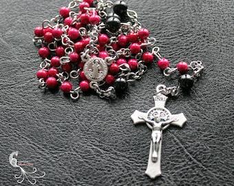 Catholic rosary, catholic jewelry, rosary necklace, Pearl rosaries, rosaries handmade, religious gift, christian, chaplet, swarovski pearl
