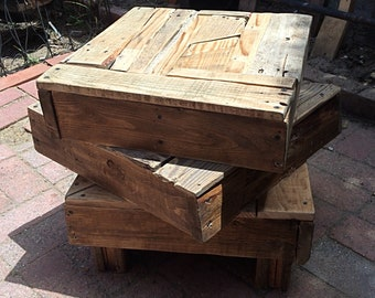 Abstract 100%  Pallet Wood Table - The Triple Decker - Up-cycled