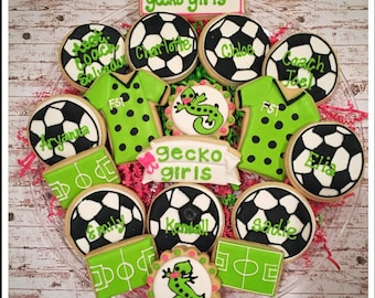 Soccer Sugar Cookies/ soccer team parties