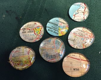Michigan Map Magnets - Set of 4
