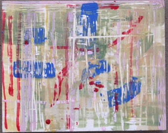 Abstract Encaustic Painting, ready to hang