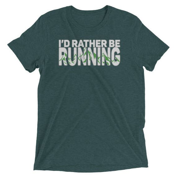 Men's I'd Rather Be Running TriBlend T-Shirt - Sunrise Running Company - Soft and Durable T-Shirt